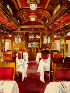 March 30th 1868 The Pullman Palace Car Company introduced the first railroad dining car.