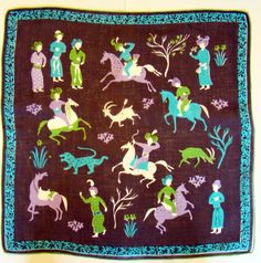 Tammis Keefe Princely Pursuits Handkerchief by AnchoredVintage