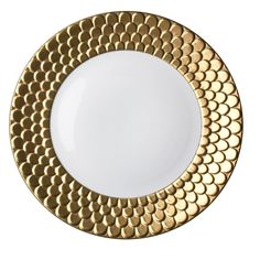 Even hamburger has to taste better on a 24kt gold trim plate!