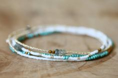 Beaded Multi Wrap Bracelet Boho Chic Seed Bead door MoonLabJewelry