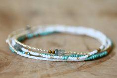Beaded Multi Wrap Bracelet Boho Chic Seed Bead door MoonLabJewelry