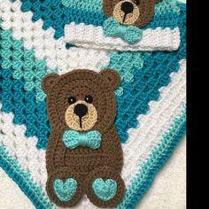 - Crochet Baby Blanket – Baby Blanket – Handmade Baby Blanket – Baby Bear Blanket – Crocheted Baby Blanket – Baby Bear Jean Moyer added a photo of their purchase - baby blanket bear Crochet Panda, Giraffe Crochet, Baby Afghan Crochet, Crochet Bear, Crochet Blanket Patterns, Baby Patterns, Baby Blanket Size, Bear Blanket, Valentines Day Baby