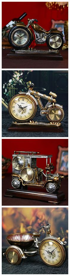 Love these vintage style clocks so deeply! Best decoration as well. Take a motorbike clock home now!