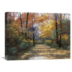 Found it at Wayfair - Autumn Road by Diane Romanello Painting Print on Wrapped Canvas