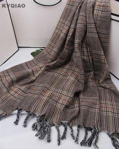 3a2d3c9e4a2a Trouver plus Foulards Informations sur KYQIAO plaid écharpe femmes automne  hiver Espagne style vintage élégant longue plaid glands écharpe châle wrap  ...
