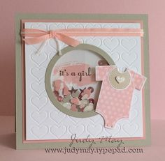 Stampin' Up! Something for Baby Shaker Card - Judy May, Just Judy Designs