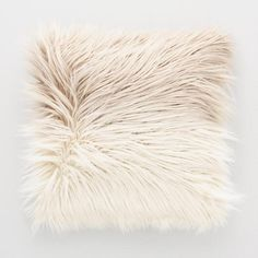 Mocha Ombre Mongolian Faux Fur Throw Pillow - v1