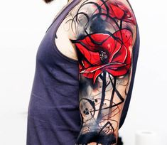 Poppies tattoo by Uncl Paul Knows