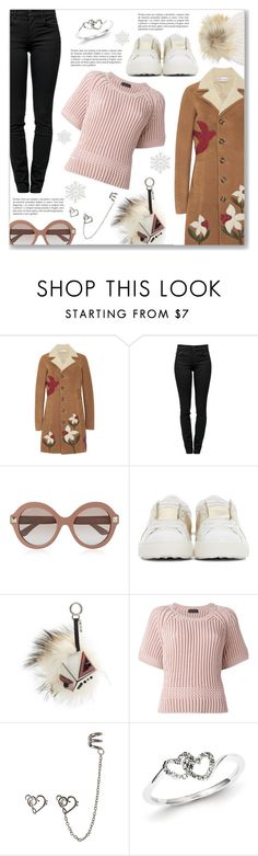 """""""Cool beauty"""" by dressedbyrose ❤ liked on Polyvore featuring RED Valentino, Proenza Schouler, Valentino, Fendi, Diesel Black Gold, Kevin Jewelers and M. Miller"""