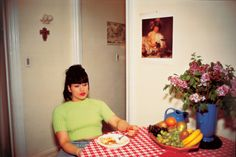 Gina at Bruce's dinner party, NYC, 1991 by Nan Goldin