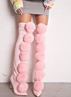 New arrival: Stretch Suede Lea... Buy it now: http://simplysonya731.net/products/stretch-suede-leather-pom-pom-boots?utm_campaign=social_autopilot&utm_source=pin&utm_medium=pin