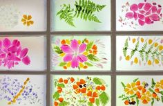 """Gorgeous DIY flower """"stained glass"""" by @Jean Van't Hul"""