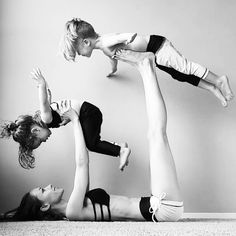 6 Fun Yoga Shapes To Do With Kids! Now that I will have 2 haha