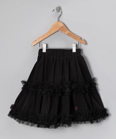 Look what I found on #zulily! Black Daniella Skirt - Toddler & Girls by KidCuteTure #zulilyfinds