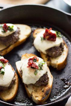 Easy Bruschetta Burger