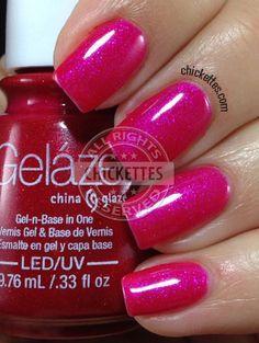 Gelaze 108 Degrees Swatch #Gelaze #ChinaGlaze #gelpolish