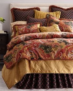Shop luxury bedding sets and bedding collections at Horchow. Browse our incredible selection of full, queen, and king size luxury bedding sets. Elegant Comforter Sets, Luxury Comforter Sets, Luxury Duvet Covers, Queen Bedding Sets, King Comforter Sets, French Country Bedding, Country French, Bedding And Curtain Sets, Linens And More