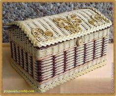 Поделка изделие Плетение Июнь Бумага газетная Картон Трубочки бумажные фото 5