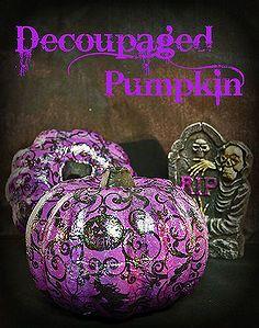 decoupaged pompoenen voor Halloween, ambachten, decoupage, halloween decoratie, seizoensgebonden vakantie d cor