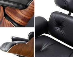 eames lounge chair & ottoman detail