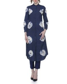 Blue Tie And Dye Tunic  l Shop at: http://www.thesecretlabel.com/ans-by-astha-n-sidharth