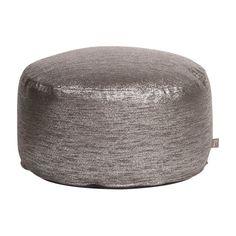 Howard Elliott Glam Foot Pouf Ottoman Zinc - 871-236
