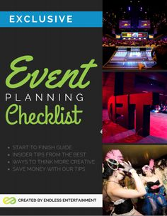 Check out our exclusive event planning check list. Let us help you reduce the stress of planning an event and assure that you don't miss a step in the event planning process! Event Planning Checklist, Business Events, Event Management, Saving Money, Communication, Stress, Entertaining, Let It Be, How To Plan