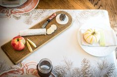 Carol and Company 2015 Fall Tablescapes- Nora Fleming serving board