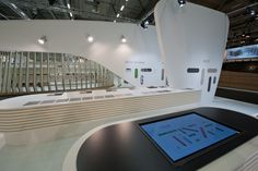 Interactive Desk made of Naturalia, by Arpa. Arpa Lab design.