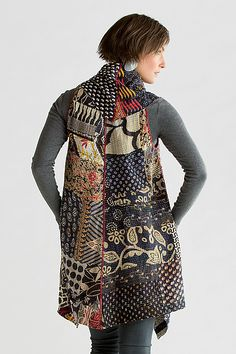 beautiful vest with kantha quilting