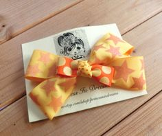 Girls Yellow Hair Bow / Hair Bow Clip/ by PrincessInDreams on Etsy
