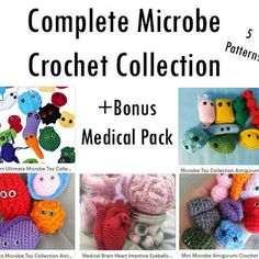 Complete Microbe Crochet Collection Bonus Medical Pack 5