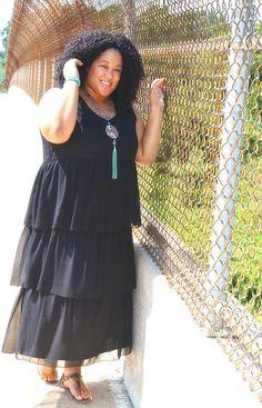 Style | Black Maxi Dress & a Statement Necklace | Whitney James | Bloglovin'