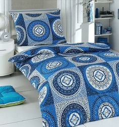 Bavlnené obliečky - MANDALA BLUE Comforters, Mandala, Blanket, Bed, Home, Creature Comforts, Quilts, Stream Bed, Ad Home