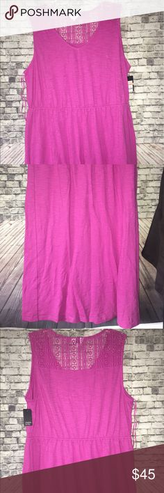 🆕 Crown & Ivy Plus Size Maxi Dress NWT Plus Size Crown & Ivy Maxi Dress. New with tags. Size 2X. Gorgeous Fuchsia color. Dress hits at ankles. V-cut neckline. Darling crochet accent on the back neckline. Elastic waistband to flatter mid-section. Smoke/bug free home. Perfect vacation outfit! Crown & Ivy Dresses Maxi