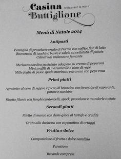 Menu pranzo di Natale! Info 3663091510 Chef Raffaele Quero