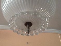 Vintage Petite Hobnail Ceiling Light Hallway by AntiqueLights