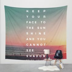 Buy Face to the Sunshine Wall Tapestry by Zeke Tucker. Worldwide shipping available at Society6.com. Just one of millions of high quality products available.