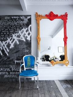 Stunning DIY Painted Mirror Designs Ideas, … – rustic home interior Graffiti Furniture, Diy Furniture, Graffiti Bedroom, Mirror Painting, Diy Painting, Spiegel Design, Rustic Home Interiors, Indian Home Decor, Dream Decor