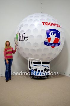Korbel Inflatable Golf Ball Display for The Toshiba Classic #sportsmarketing #golfing #inflatables