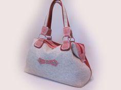 Ledertaschen - Handtasche Filz-Leder Trachtenlook - ein Designerstück von am-style bei DaWanda
