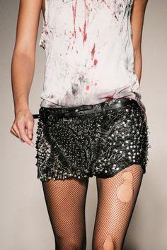 Studded Balmain skirt x