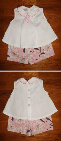 Pattern: Creations by Michie' #110, Diaper Shirt and Shorts