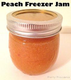 Pretty Providence / Easy Peach Freezer Jam Tutorial