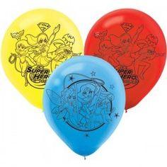 DC Super Hero Girls Printed Latex Balloons (6)