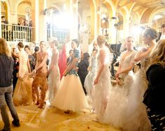 backstage at the plaza, prepping marchesa fall 2012