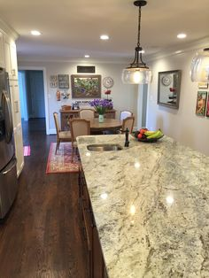 typhoon green granite kitchen countertop finished installed granix