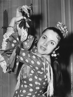 Sixteen year old Pepita Sevilla the youngest member of Jose Greco's company of Spanish dancers who are in London to perform at the Festival Hall. (Photo by John Franks/Keystone/Getty Images). 17th December 1956