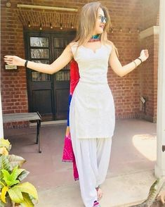 Latest Punjabi Suit Design With Multi Dupatta Latest Punjabi Suit Design With Multi Dupatta Patiala Dress, Punjabi Dress, Pakistani Dresses, Indian Dresses, Indian Outfits, Patiala Salwar Suits, Sharara, Patiala Suit Designs, Kurta Designs Women