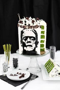 Frankenstein Silhouette Cake Recipe